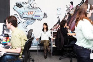 Ellen Pao at Reddit office